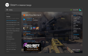 Steam in Material Design - Concept by bannax1994