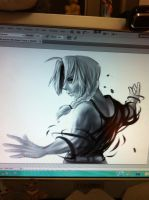 Edward elric WIP by Fluffmoth