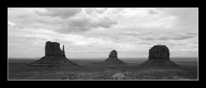Monument Valley 3 BW by Boofunk