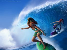 Let's Go Surfing by Coraleana