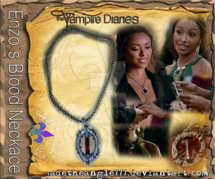 The Vampire Diaries Selfmade Enzos Blood Nacklace by JadeTheAngle777