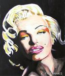 Marilyn Monroe Chiaroscuro (painting) by eyeqandy