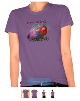 Dreaming of Spring Ladies Organic T-Shirt (Fitted) by tessieart333