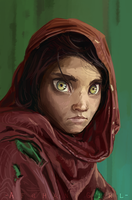 Afghan Girl by I-am-knot