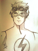 Kid Flash Sketch by yesi-chan