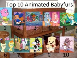 My top 10 Animated Babyfurs by BlazeHeartPanther
