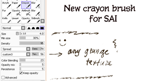 New crayon brush for SAI by clotus