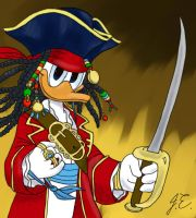 Pirate Donald - colored by miki-chaan