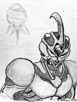 Guyver White on Black Reversed by 12jack12