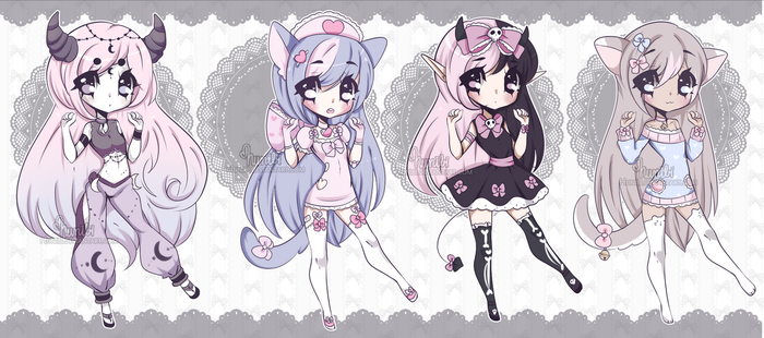 Chibi Mix Adoptables 21 ::CLOSED :: by Hunibi