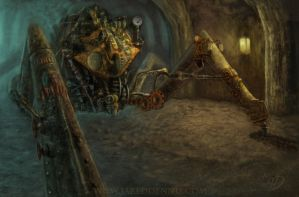 Steam Punk Spider Miner by JaredDennis