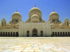 Shaykh Zayd Mosque - Courtyard by Teakster