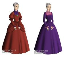 Lady Tremaine (Cinderella) outfits by sarasarit