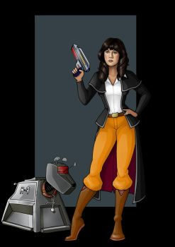 sarah jane and K-9  -  commission by nightwing1975