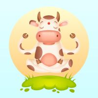 How to Create a Meditating Cartoon Cow by Designslots