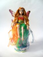The rainbow- OOAK, fantasy, art doll by Celestyal by Celestyal