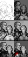 Making of Zaeed and Shepard - A moment alone by AHague