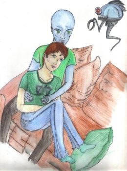Megamind And Roxie by saphirerose22193