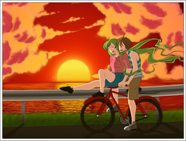 Sunset Bike Ride by shadowcutiepie