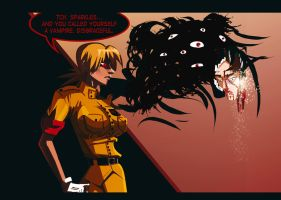 Seras Vs Edward by morganagod