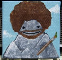 Bob Ross by rubbersoulennon