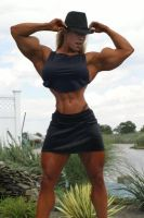 hourglassy female bodybuilder2 by cribinbic