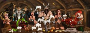 Drinking Viking party by CrioArts