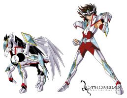 Pegasus Seiya Omega Cloth V2 by camelopardalis1989