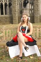 Queen of Hearts Seated by Shawn-Saylor