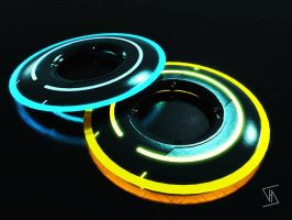 Tron Discs by BrendeAq