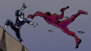 Daredevil vs Bullseye by fan4battle