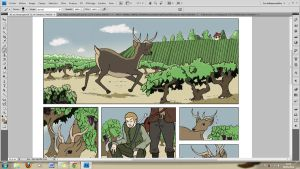 WIP 1 Deer and vine V2 by Elyan-Dreams