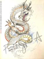 Dragon Tattoo Design by Prototype-A