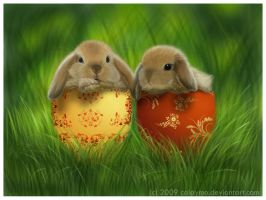 Pretty Babies bunnies by Calaymo