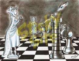 Queen's chess game by yomerome