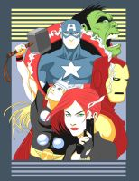 The Fashion Avengers by ninjaink
