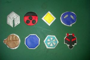 Johto Leauge Gym Badges by Ulla-Andy