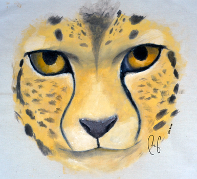 Cheetah Oil Painting on Canvas by terin814
