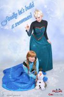 Finally let's build a snowman - Elsa Cosplay by Eressea-sama