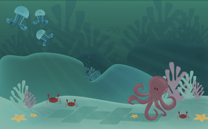 .:Octopus plays Hopscotch:. by purpleoctopussy