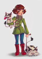 Walking the Dogs by chrissie-zullo