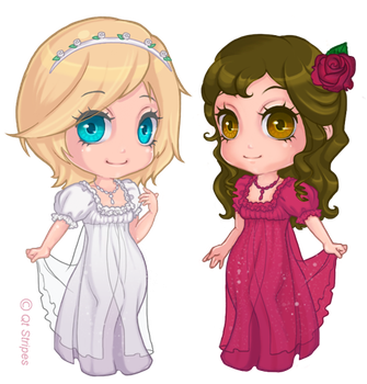 rose red and snow white by cgart4u