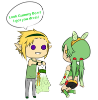 Collab: Excali Wanted To Dress Gummi Up Again by Lexial-XIII