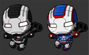 Lil War Machine and Iron Patriot by KevinRaganit