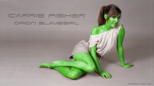 Orion Carrie Fisher  Celebrity Star Trek by gazomg