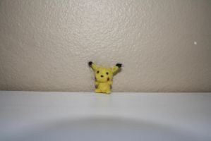 needle felted pikachu by poptartlove0104