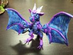 Blue Purple Dragon Small by AstridMakosla