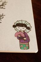 Geisha Moleskine - Detail 2 by HappyPenguinArt