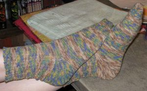 Socks using Sweet Tomato Heel by SuncatStudio