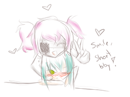 Smile shorty! by Midnablue